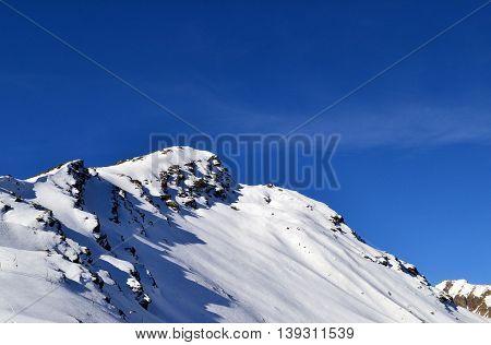 Mountain Cheget peak, - Elbrus district. Frosty fresh air. Clear and sunny weather. Kabardino-Balkar Republic. Photo taken on:  November 4 Monday, 2013