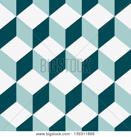 Abstract Seamless pattern vector color cube. Vector Illustration