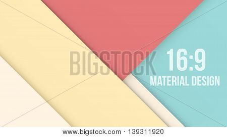 Wide Background Unusual modern material design. Vintage shades and style. Abstract Vector Illustration.