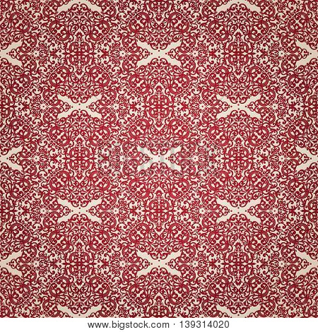 Vintage Seamless Pattern In Victorian Style.