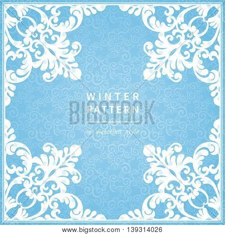 Abstract Winter Border With Place For Text.