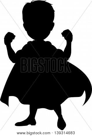 Silhouette of a superhero for you design