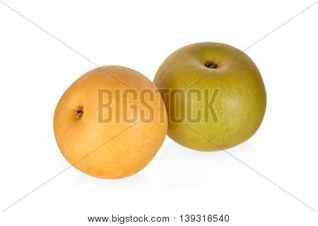 whole fresh pear on a white background