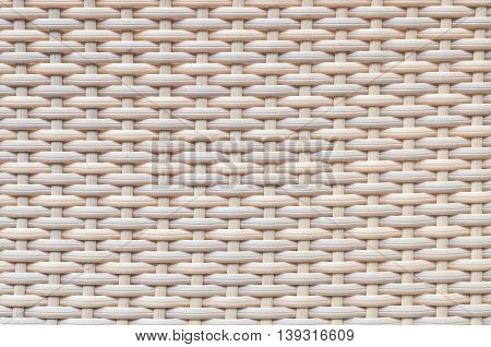 Closeup surface wood pattern at brown wood weave chair texture background