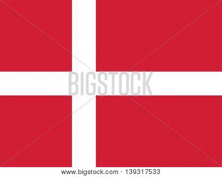 Vector Kingdom of Denmark flag