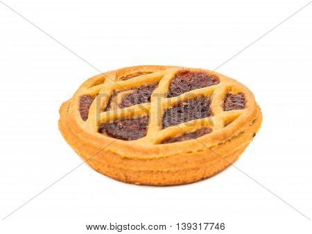 pie filling biscuit, isolated on white background