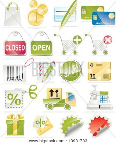 Raster version of Shopping and Consumerism Icon Set