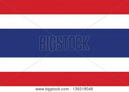 Vector Kingdom of Thailand flag