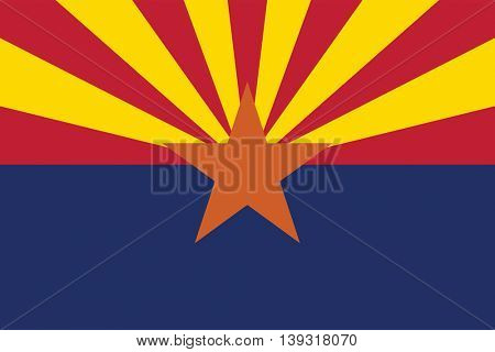 Vector State of Arizona flag