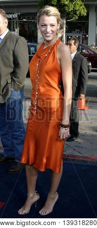 Blake Lively at the Los Angeles premiere of 'Sisterhood of the Traveling Pants' heldat the Grauman's Chinese Theatre in Hollywood, USA on May 31, 2005.