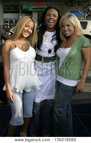 Cheetah Girls at the Los Angeles premiere of 'Sisterhood of the Traveling Pants' heldat the Grauman's Chinese Theatre in Hollywood, USA on May 31, 2005.