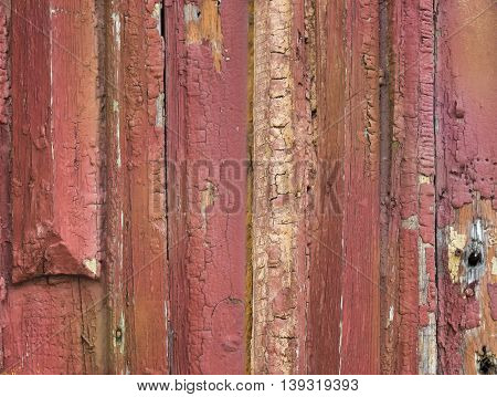 Old painted scratched and grunge wood background