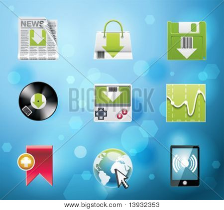 Typical mobile phone apps and services icons. EPS 10 version. Part 4 of 10