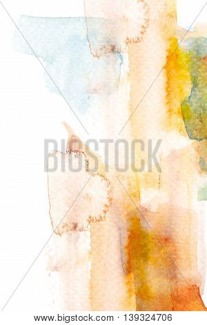 Abstract watercolor brush stroke illustration. Watercolor painting on paper. Abstract background.