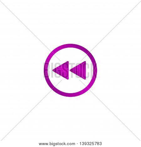 Glossy multimedia icon forward vector EPS flat