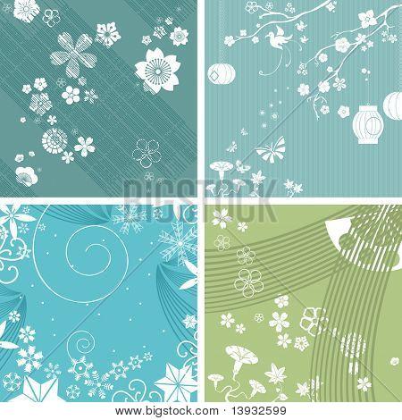 Japanese patterns, seasons