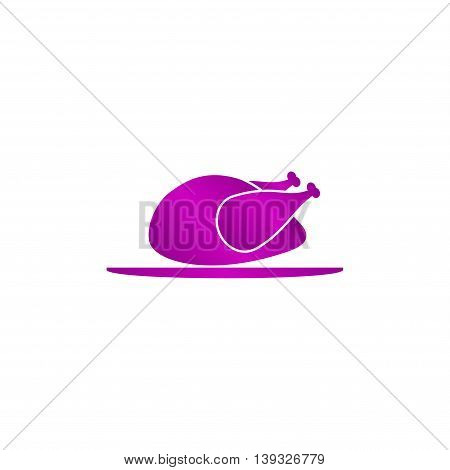 Chicken. vector icon. Flat design style eps 10