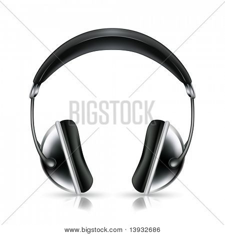 Head phones, vector icon