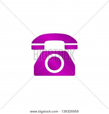Vector icon of a phone. Flat design style eps 10