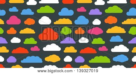 Abstract color clouds seamless pattern
