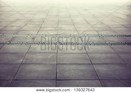 architecture, background and texture concept - tiled floor backdrop