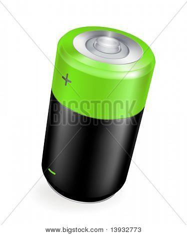 Batería, icono del vector