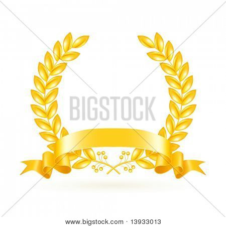 Gold Wreath, vector