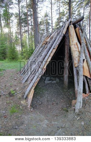 Hdr View Into Stone Age Tent Naesaaker In Sweden