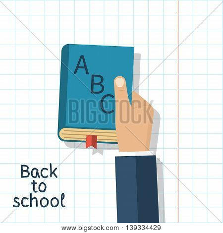 Man Holding School Book