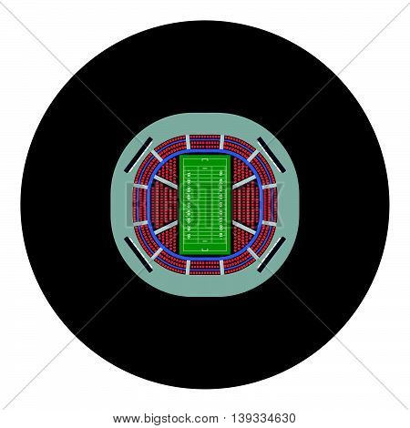 American Football Stadium Bird's-eye View Icon