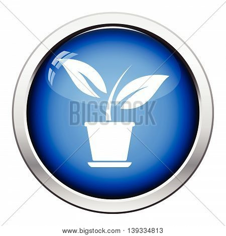 Plant In Flower Pot Icon