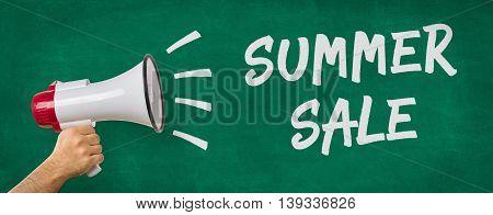 A Man Holding A Megaphone - Summer Sale