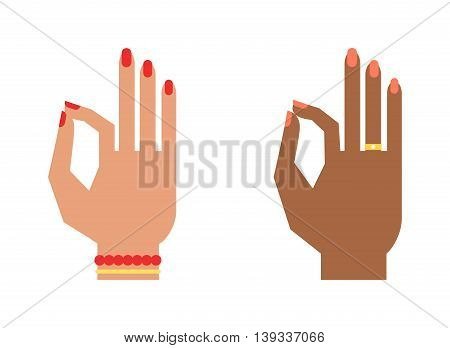 Okay hand success symbol, ok hand yes agreement