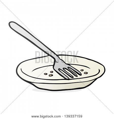 freehand drawn cartoon empty plate