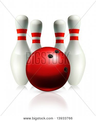 Bowling, vector illustration