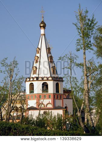 Orthodox architecture. Cathedral of the Epiphany. Irkutsk. Siberia. Russia