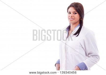 Portrait Woman In White Robe