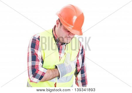 Constructor Suffering From Palpitation And Chest Pain