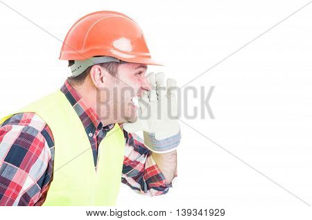 Angry Builder Or Constructor  Yelling At Somebody