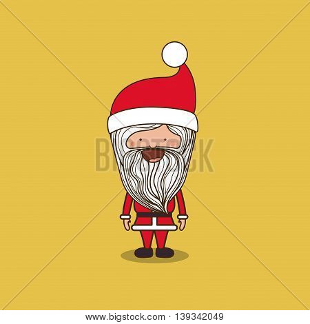 santa claus character isolated icon design, vector illustration  graphic