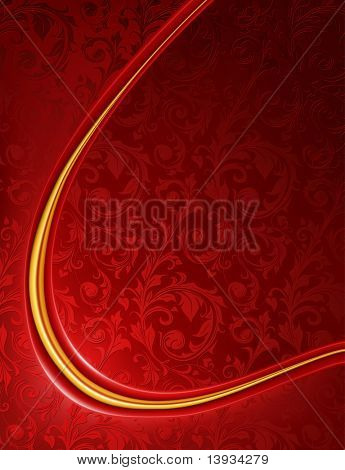 Lujo rojo de fondo, vector