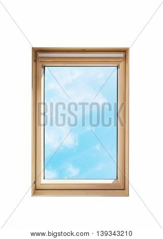 Isolated roof window (skylight) on white background