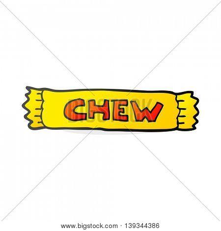 freehand drawn cartoon chew