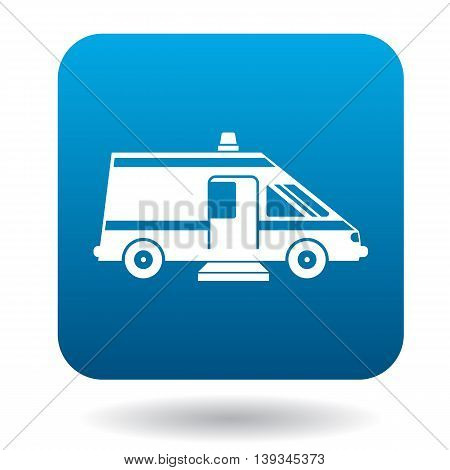Ambulance car for the disabled icon in simple style on a white background