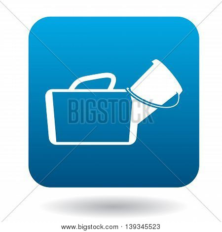 Medical bag icon in simple style on a white background