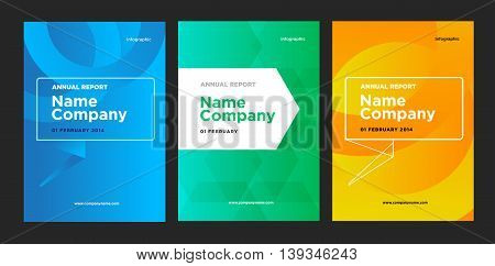 Flyer leaflet booklet layout set. Vector design template. A4 size brochure with abstract elements