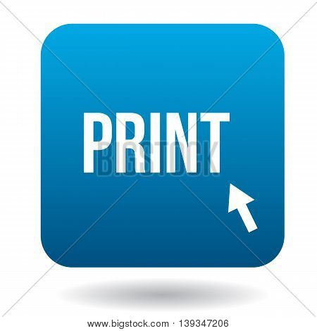 Print word icon in simple style on a white background