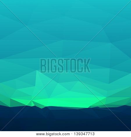 Abstract teal triangles. Abstract polygonal background. Vector illustration