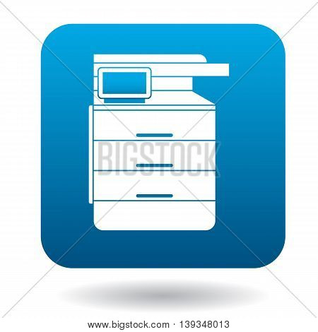 Multipurpose device, fax, copier and scanner icon in simple style on a white background