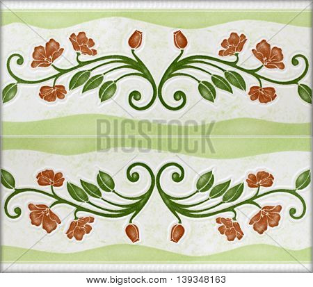 The Patterned marble floor on background texture